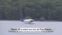 Un hydravion aux Lacs de l' Eau d'Heure: une première en Belgique