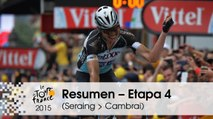 Resumen - Etapa 4 (Seraing > Cambrai) - Tour de France 2015