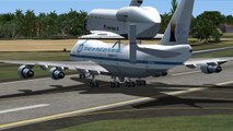 """✈ Boeing 747 Freighter  Carrying the Space Shuttle """"Discovery"""" -- Microsoft Flight FSX"""