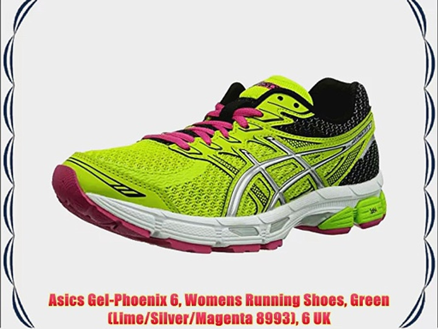 Asics Gel Phoenix 6 Womens Running Shoes Green (LimeSilverMagenta 8993) 6 UK