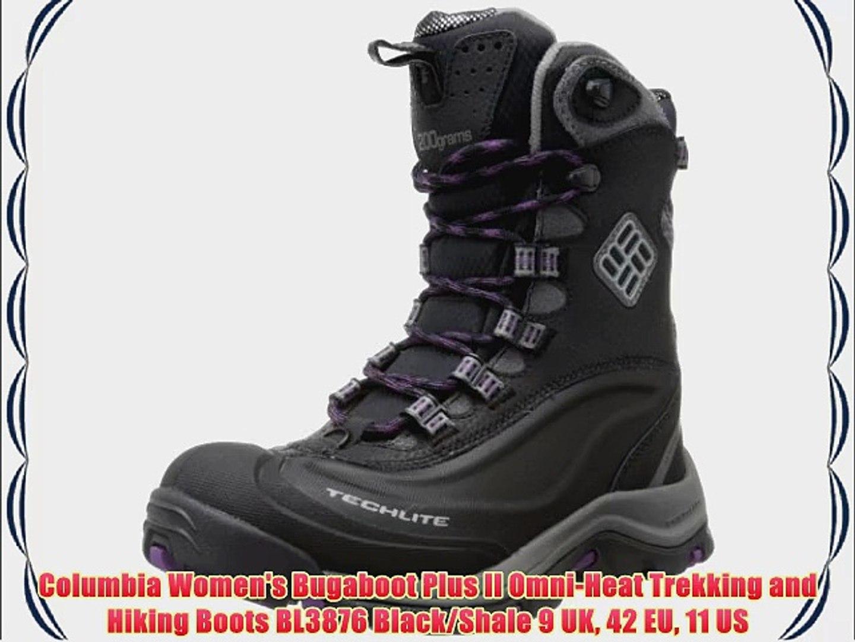 87b97dc96d6 Columbia Women's Bugaboot Plus II Omni-Heat Trekking and Hiking Boots  BL3876 Black/Shale 9