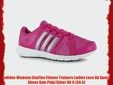 adidas Womens KeyFlex Fitness Trainers Ladies Lace Up Sport Shoes Gym Pink/Silver UK 6 (39.3)