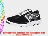 Skechers Womens GO Run Ride?Ultra Running Shoes Black Schwarz (BKW) Size: 4