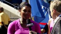 Venus comes to the rescue--Serena Williams and Venus US doubles '09 interview
