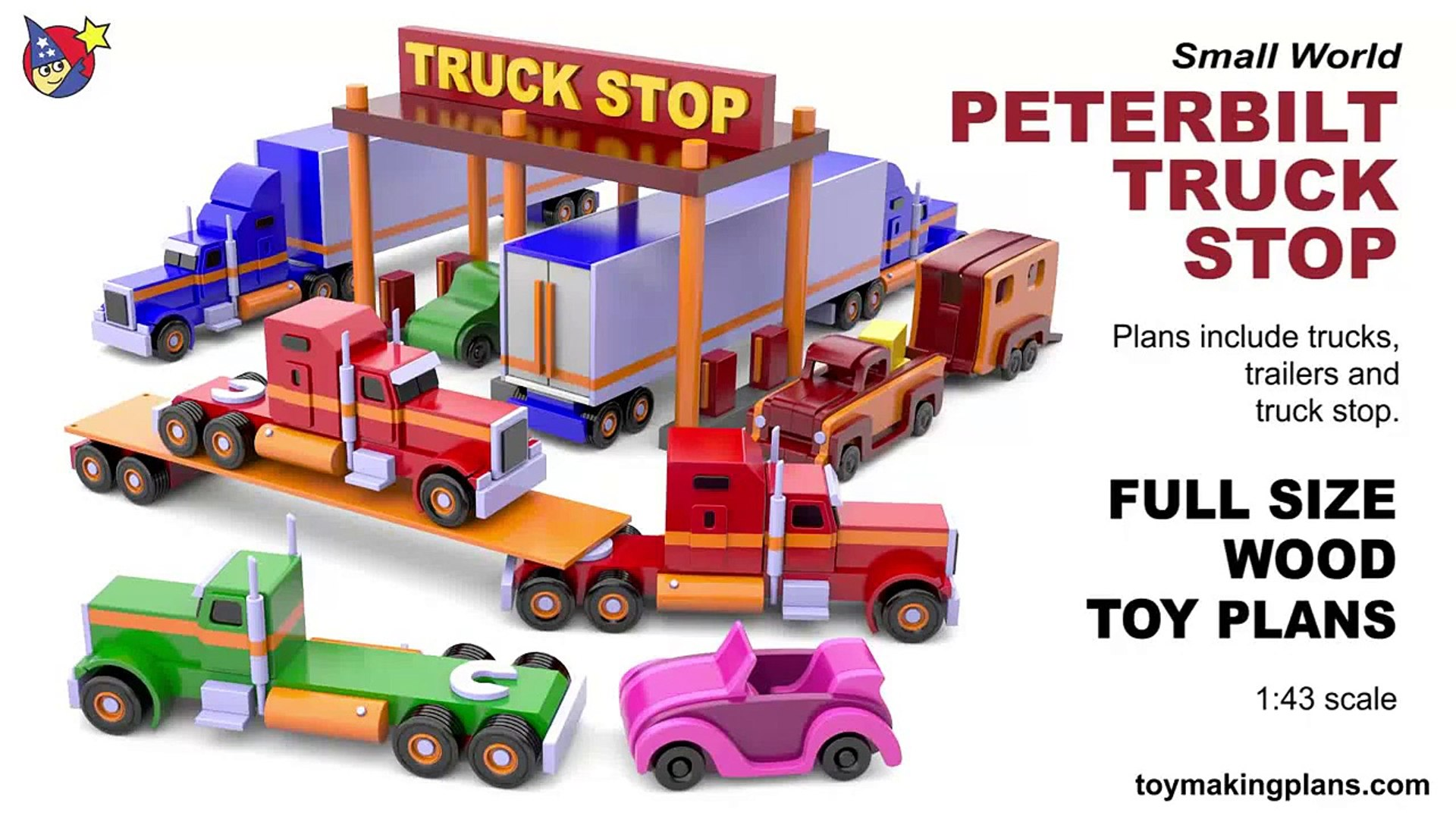 wood toy plans - peterbilt truck stop
