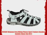 (F0930F) Womens Grey Hiking Fitness Sport Trainers Sneakers Sandals Shoes Size UK 5
