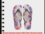 Womens Havaianas Caprice White Silver Flip Flops Sandals