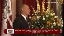Valsts prezidents sveic Latvijas olimpiešus ar panākumiem 13/09/2012