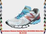 New Balance Womens Running Shoes W1260WB3 White/Blue 5 UK 37.5 EU