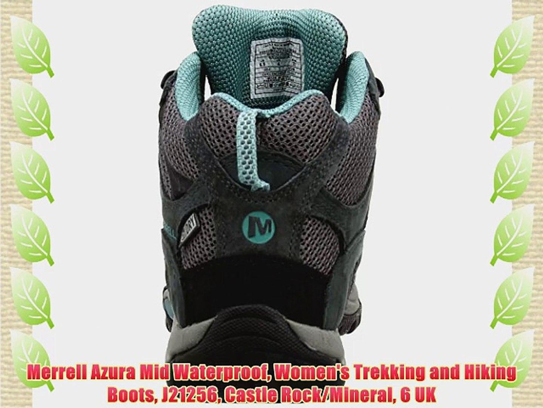 ilmainen toimitus Viimeisin muoti valtava myynti Merrell Azura Mid Waterproof Women's Trekking and Hiking Boots J21256  Castle Rock/Mineral 6