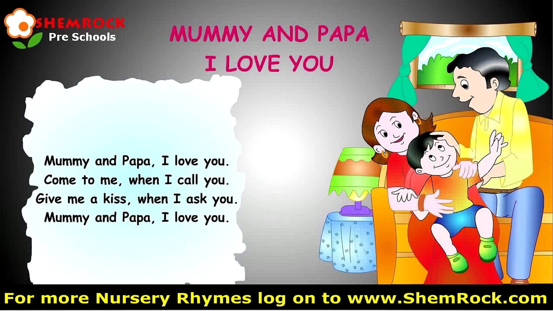 Nursery Rhymes Mummy Papa I Love You