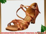 International Dance Shoes Women's Cindy Heels Tan Satin 12 UK