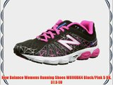 New Balance Womens Running Shoes W890BK4 Black/Pink 5 UK 37.5 EU