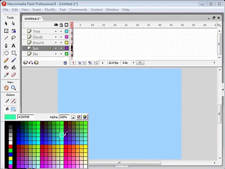 Basic Flash Animation Tutorial : Sunrise [1 / 2]