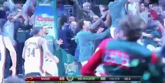 Khris Middleton game-winner buzzer-beater three-pointer: Miami Heat at Milwaukee Bucks