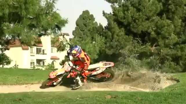 Ronnie Renner Riding His Ktm on Golf Course!