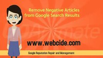 Effective Online Reputation Management (ORM) repair existing reputation damages, clear your Google reputation