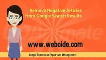 Reputation Repair & Management Tutorial by Webcide.com Online Reputation Management