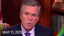 Jeb Bush's many answers for his brother's Iraq war.