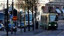 Mini footage - Finnish tram in the city (Helsinki, Finland)