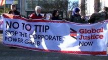 Stop TTIP! Giant Trojan horse protests EU-US trade deal