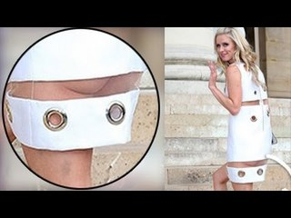 Nicky Hilton Reveals Her Butt In Totally See-Through Dress