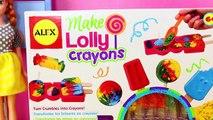 Candy Crayons Maker Lollipop Crayon Maker Kit Anna Frozen Kids School Art Class