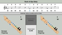 Rock-a-Bye Baby - Recorder Notes Tutorial