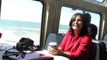 Train trip from LA to SF on Amtrak 14 coast Starlight with Swami Anand Arun