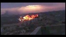 Jet Plane Crashes in Libyan City - 3 Angles view - Libyan MIG-21
