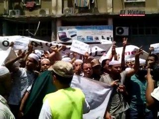 Manifestation des mozabites devant la maison de la presse à Alger