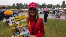 Arras: Candice Caron, charmante hôtesse du Pas-de-Calais sur le Tour de France