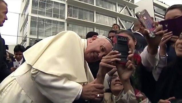 Selfie papal en Equateur