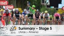 Summary - Stage 5 (Arras Communauté Urbaine > Amiens Métropole) - Tour de France 2015