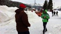 M 480 Holder - portattrezzi - utilizzo per sgombero neve con fresa - lavorazione montagna di neve