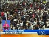 El papa Francisco se despide de Ecuador y continúa su gira por Latinoamérica
