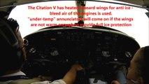 Citation V - ILS approach in heavy rain - Cockpit view