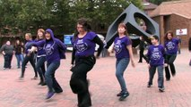 I Will Survive Flash Mob in Red Square, Bellingham, Washington.