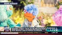 Sesame Street introduces a new puppet to teach kids how to cope when a parent in jail