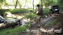 Rover Rick get's stuck big time in WV in his 1995 Range Rover Classic SWB