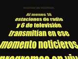 Temblor en la ciudad de México en vivo por radio y televisión. Mayo 22 de 2009
