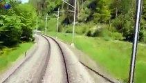 SZU Sihltalbahn S4 Bahnhof Sihlwald nach Bahnhof Langnau-Gattikon, Führerstandfahrt 80 km/h
