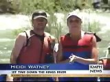 TV Anchor goes whitewater rafting