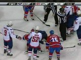 Josh Gorges Recieves The Puck In The Face (Febuary 10 2010)