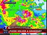 Tormenta con viento, lluvias y granizo del hasta 6 cm en Buenos Aires, Argentina (19/3/12)