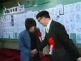 Akira Toriyama drawing Arale in 1980 in anniversary of Araki Hirohiko (Osamu Tezuka is here too)