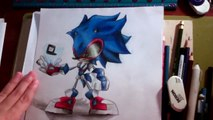 Cartoonblock Drawing contest entry re-design Sonic ( Futuristic Sonic )