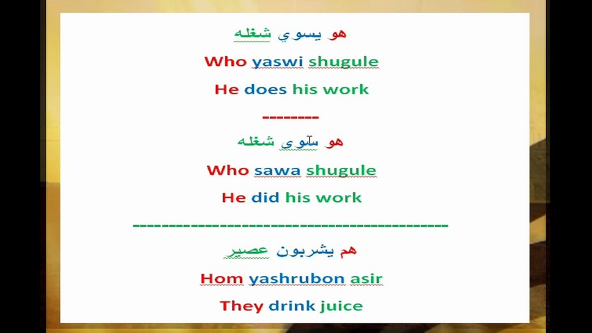 learn arabic - saudi dialect - present and past tense verbs