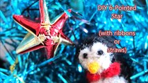 Christmas Crafts - DIY How to Make a 6-Pointed or 5-Pointed Straw Star (Made From Ribbons/Straws)