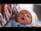 Nepak Earthquake: Newborn enjoys naming ceremony at Tundikhel quake camp